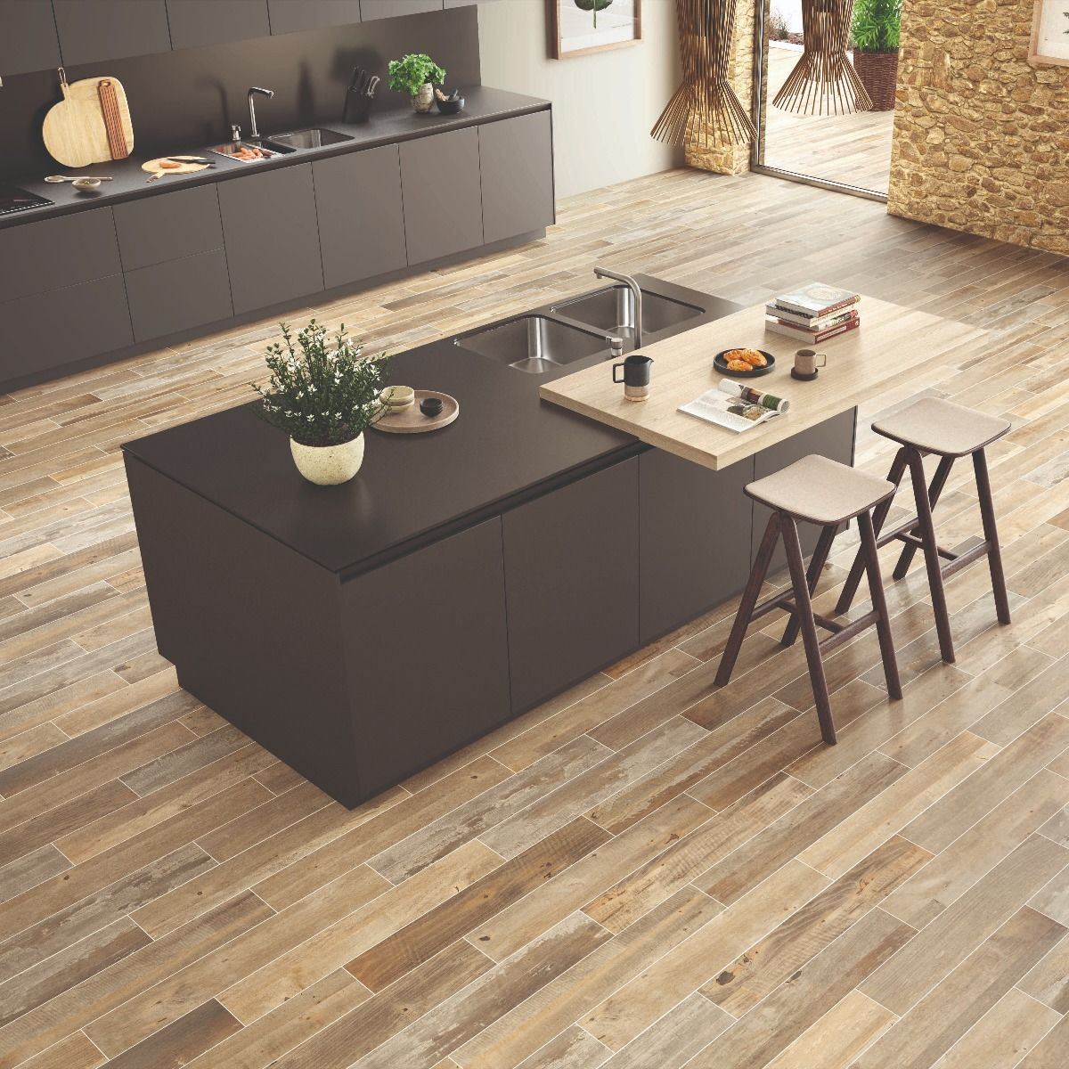New wood effect tiles at Latino Ceramics in Guiseley